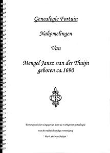 Nakomelingen van Mengel Jansz. Van der Thuijn